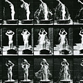 Woman Pouring A Basin Of Water Over Her Head by Eadweard Muybridge