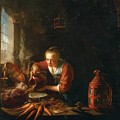 Woman Pouring Water Into A Jar by Dou Gerrit