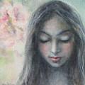 Woman Praying Meditation Painting Print by Svetlana Novikova