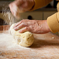Woman Preparing Dough For Kopytka by Arletta Cwalina