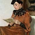 Woman Reading by Felix Edouard Vallotton