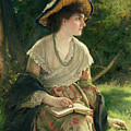 Woman Reading by Robert James Gordon