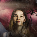 Woman Resilient In Storm Through Positive Thinking by Jorgo Photography - Wall Art Gallery