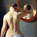 Woman Standing In Front Of A Mirror 1841 by Eckersberg Christoffer Wilhelm