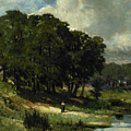 Woman Standing Near A Pond by Edward Mitchell Bannister