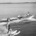 Woman Water Skiing by Underwood Archives