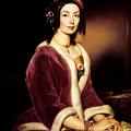 Woman Wearing A Velvet Pelisse  by Mountain Dreams