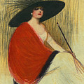 Woman Wearing Hat by Robert G Kernodle