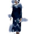 Woman Wearing Navy Blue by Judi Suni Hall
