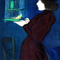 Woman With A Bird Cage  Detail by Jozsef Rippl-Ronai