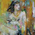 Woman With A Cup Of Coffee by Giorgi Kobiashvili
