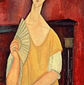 Woman With A Fan by Amedeo Modigliani
