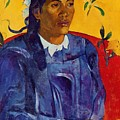Woman With A Flower 1891 by Gauguin Paul