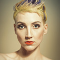 Woman With A Funky Hairstyle by Amanda Elwell