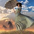 Woman With A Parasol by Daniel Eskridge