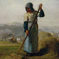 Woman With A Rake by Jean-Francois Millet