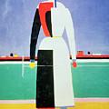 Woman With A Rake by Kazimir Severinovich Malevich