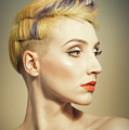 Woman With An Edgy Hairstyle by Amanda Elwell