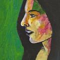 Woman With Black Lipstick by David Lovins