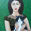 Woman With Cat Soul  by Madalena Lobao-Tello