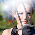 Woman With Pitchfork by Jorgo Photography - Wall Art Gallery