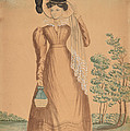 Woman With Plumed Hat by American 19th Century