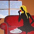 Woman With Tea by Ricklene Wren