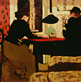 Women By Lamplight by vVuillard
