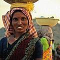 Women Carrying Goods On Their Heads H B by Gert J Rheeders