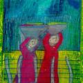 Women Carrying Wash by Lydia L Kramer