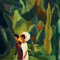 Women In A Park With A White Parasol by August Macke