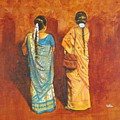 Women In Sarees by Usha Shantharam