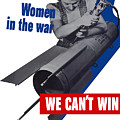 Women In The War - We Can't Win Without Them by War Is Hell Store