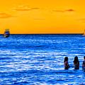 Women Of The Blue Sea - Costa Rica Seascape by Mark E Tisdale