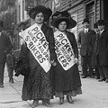 Women Strike Pickets From Ladies by Everett