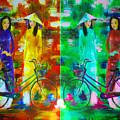 Women With Bike by Brad Spencer