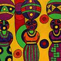 Women With Calabashes II by Emeka Okoro