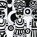 Women With Calabashes IIi by Emeka Okoro
