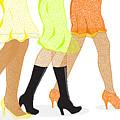 Womens Leg Dots by Bigalbaloo Stock