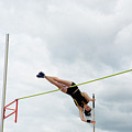 Womens Pole Vault 3 by Bob Christopher