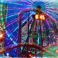 Wonder Wheel At The Coney Island Amusement Park by Jeelan Clark