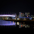 Wonderful Night Of False Creek View With Bc Place. by Andrew Kim