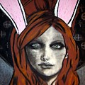 Wonderland Girls - Bunny Ears Close Up by Chrissa Arazny- Nordquist