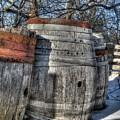 Wood  Barrel Oak Fermentation Whiskey Bourbon Cask Winter Snow Wood Faust Park by Jane Linders