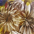 Wood Carved Dahlia by Lisa Grogan
