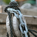Wood Rope And Chain by Frank Mari