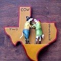 Woodcrafted 2 Cow Steppin' by Michael Pasko