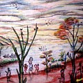 Wooded Beachfront With Fun Seekers by Mbonu Emerem