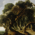 Wooded Landscape by Jacob van Geel