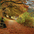 Wooded Path In Autumn By Hans Andersen Brendekilde 1902 by Hans Andersen Brendekilde